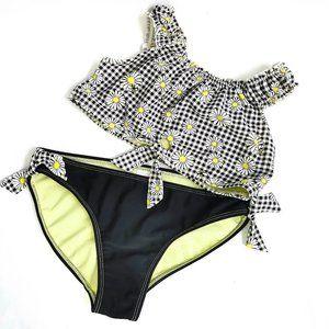 WONDER NATION girls sunflower 2pc bathing suit